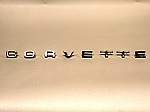 1974-1975 Corvette Rear Emblem Letters  - Reproduction
