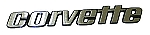 1976 Late-1979 Corvette Rear Emblem Letters - GM