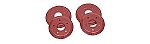 2005 - 2013 Corvette Brake Rotor Hub Covers, Red, For Cars With Z51 & F55 Option