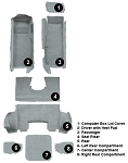 1997 - 2004 Corvette Coupe Carpet Set