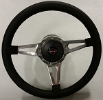 1984 - 1989 Corvette Aftermarket Steering Wheel with Hub Assembly and Horn Button