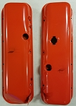 1967 - 1974 Corvette Big Block Valve Covers. Orange with Oil Drippers